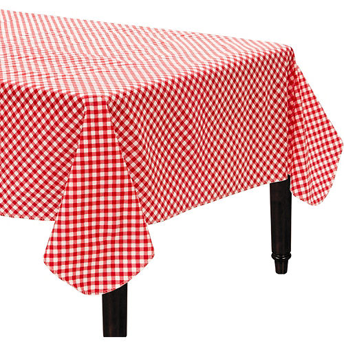 Picnic Red Gingham Flannel-Backed Vinyl Table Cover Image #1
