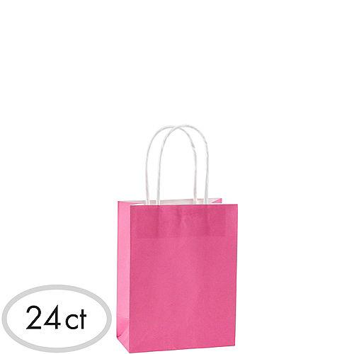 Small Bright Pink Kraft Bags 24ct Image #1