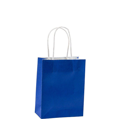Small Royal Blue Kraft Bags 24ct Image #2
