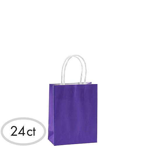 Small Purple Kraft Bags 24ct Image #1