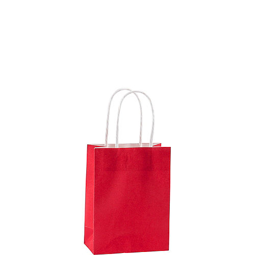 Small Red Kraft Bags 24ct Image #1