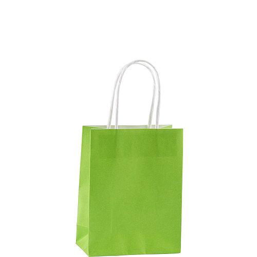 Small Kiwi Green Kraft Bags 24ct Image #2