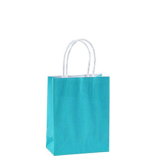 Small Caribbean Blue Kraft Bags 24ct Image #2