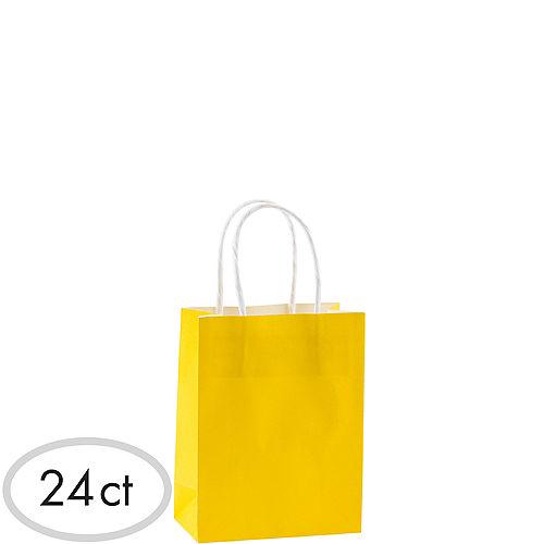 Small Sunshine Yellow Kraft Bags 24ct Image #1
