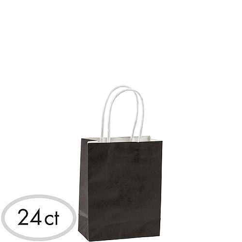 Small Black Kraft Bags 24ct Image #1