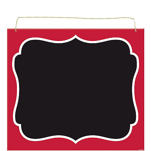 Picnic Party Red Scroll Chalkboard Sign Image #1