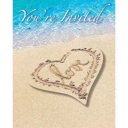 Beach Love Invitations 8ct Image #1