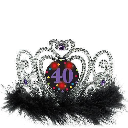 Light-Up 40th Birthday Tiara Image #1
