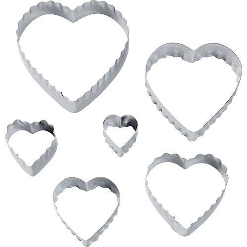 Wilton Heart Fondant & Cookie Cutters 6ct Image #1