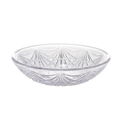 CLEAR Plastic Crystal Cut Bowl Image #1