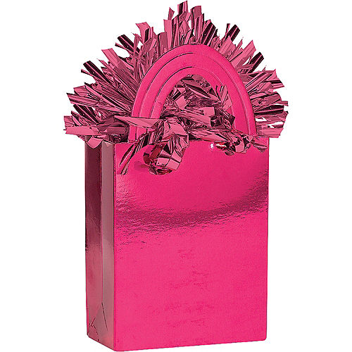 Bright Pink Mini Tote Balloon Weight Image #1
