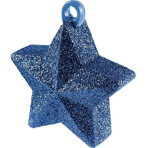 Glitter Blue Star Balloon Weight Image #1