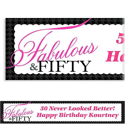 Custom Fabulous & Fifty Banner 6ft Image #1
