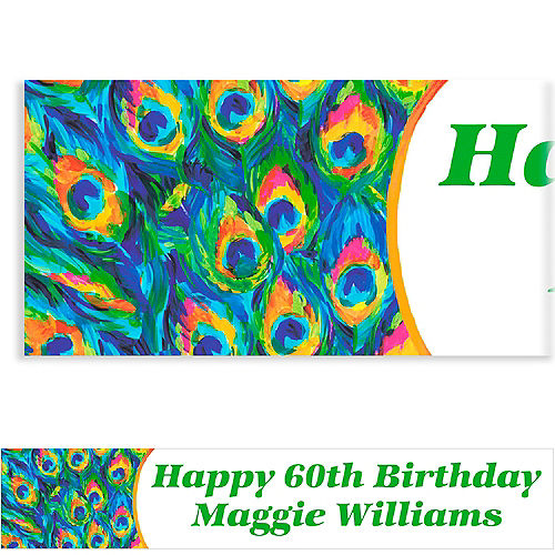 Custom Color Peacock Banner 6ft Image #1