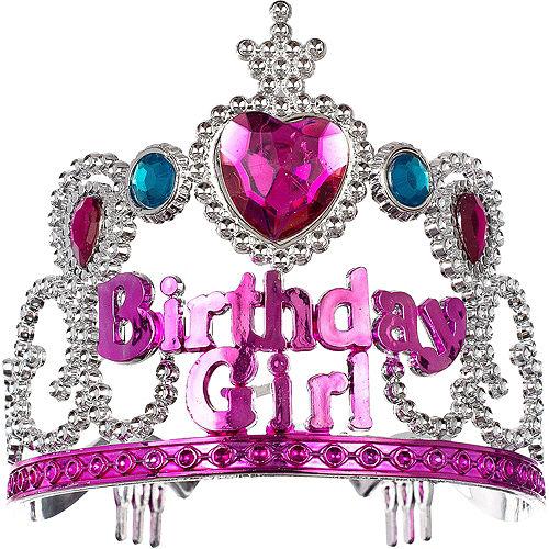 Child Pink Birthday Girl Tiara Image #1