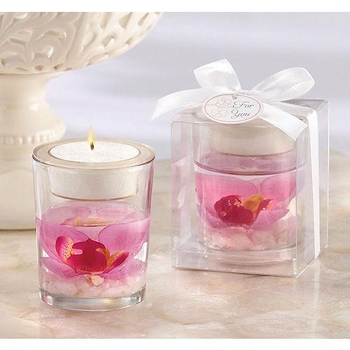 Elegant Orchid Tealight Candle Holder Image #1
