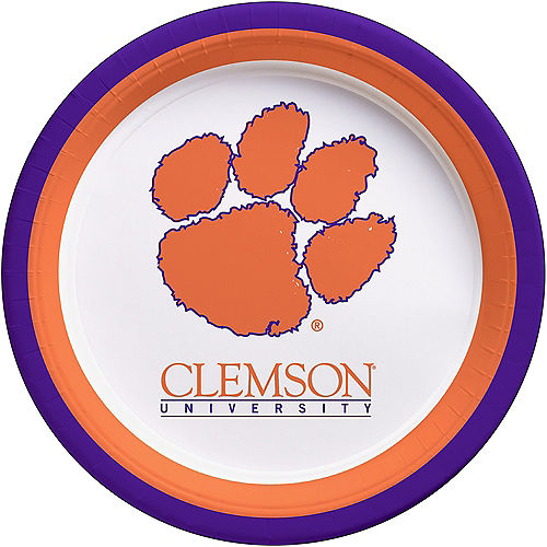 Clemson Tigers Lunch Plates 10ct Image #1