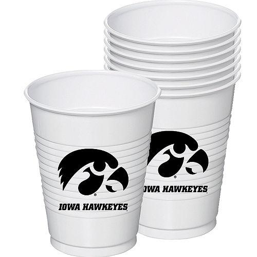 Iowa Hawkeyes Plastic Cups 8ct Image #1