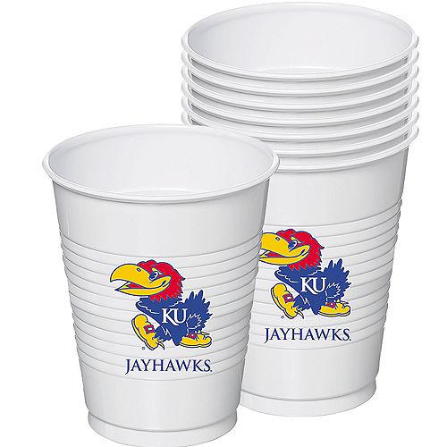Kansas Jayhawks Plastic Cups 8ct Image #1