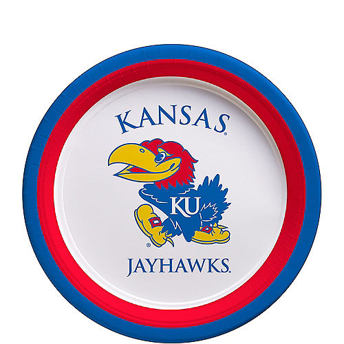 Kansas Jayhawks Dessert Plates 12ct Image #1
