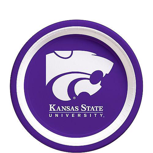 Kansas State Wildcats Dessert Plates 12ct Image #1