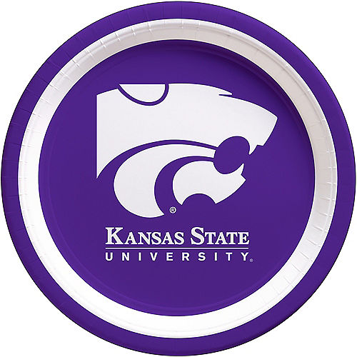 Kansas State Wildcats Lunch Plates 10ct Image #1