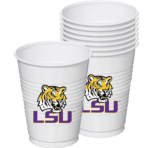 Louisiana State Tigers Plastic Cups 8ct Image #1