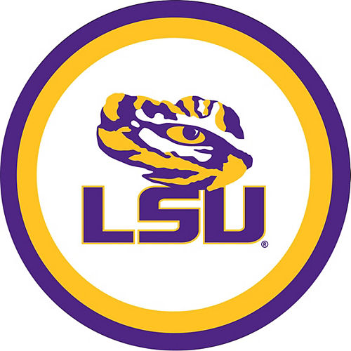 Louisiana State Tigers Lunch Plates 10ct Image #1