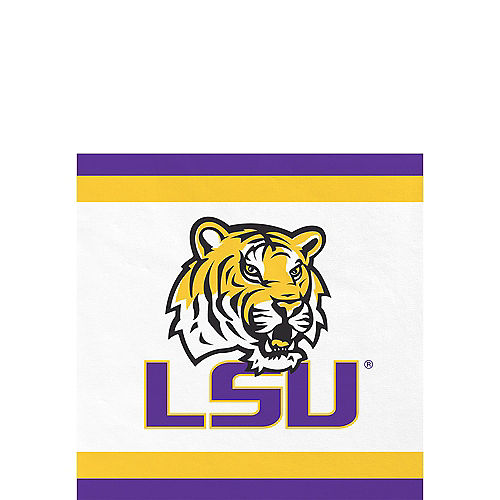 Louisiana State Tigers Beverage Napkins 24ct Image #1