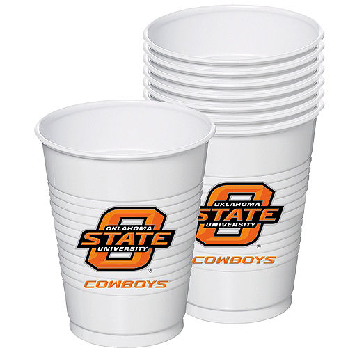 Oklahoma State Cowboys Plastic Cups 8ct Image #1