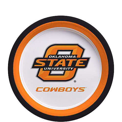 Oklahoma State Cowboys Dessert Plates 12ct Image #1