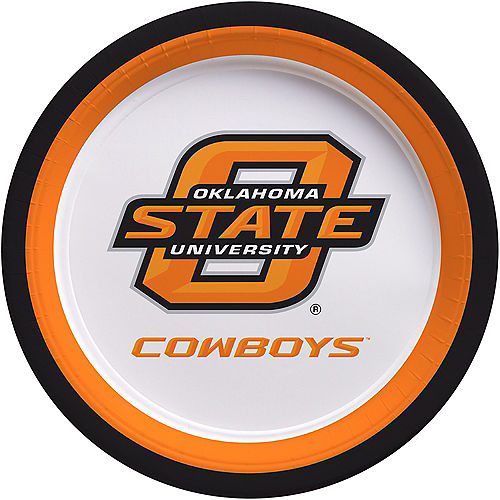Oklahoma State Cowboys Lunch Plates 10ct Image #1