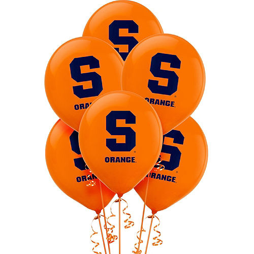 Syracuse Orange Balloons 10ct Image #1