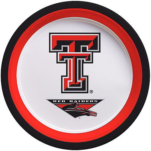 Texas Tech Red Raiders Lunch Plates 10ct Image #1