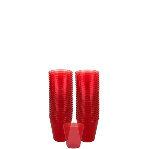Big Party Pack Red Plastic Shot Glasses 100ct Image #1