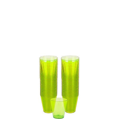 Big Party Pack Kiwi Green Plastic Shot Glasses 100ct Image #1
