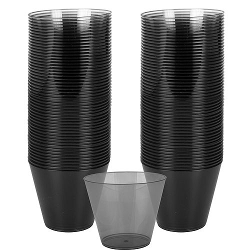 Big Party Pack Black Plastic Cups 72ct Image #1