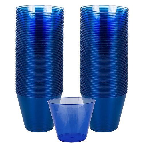 Royal Blue Plastic Cups, 9oz, 72ct Image #1