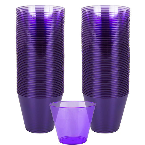 Big Party Pack Purple Plastic Cups 72ct Image #1