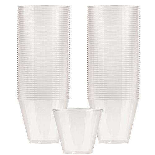 Pearl White Plastic Cups, 9oz, 72ct Image #1