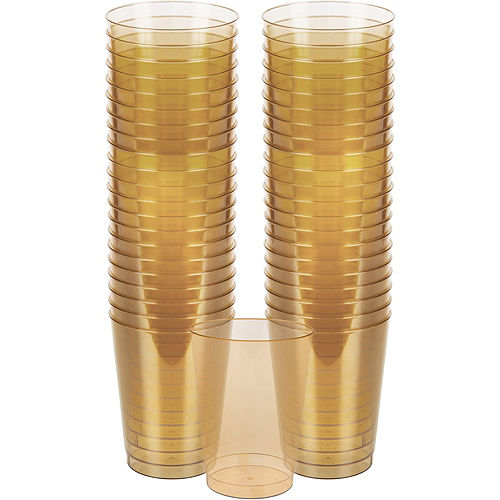 Big Party Pack Gold Plastic Cups 72ct Image #1