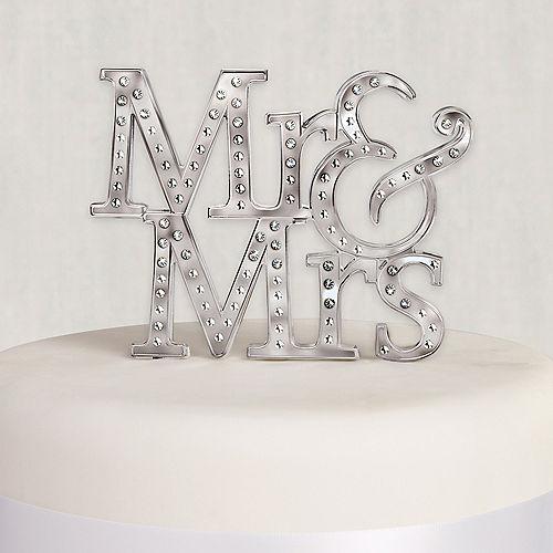 Mr. & Mrs. Wedding Cake Topper Image #1