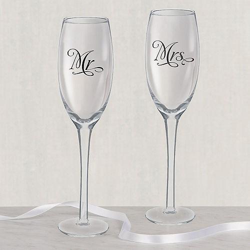 Mr. & Mrs. Wedding Toasting Glasses 2ct Image #1