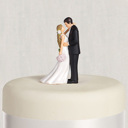 Blonde Bride & Groom Wedding Cake Topper Image #1