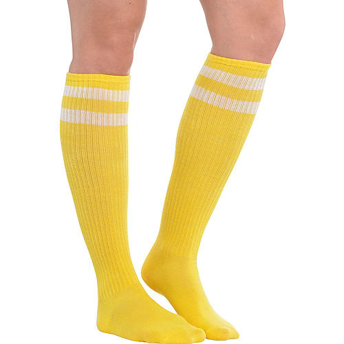 Yellow Stripe Athletic Knee-High Socks Image #1