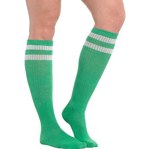 Green Stripe Athletic Knee-High Socks Image #1