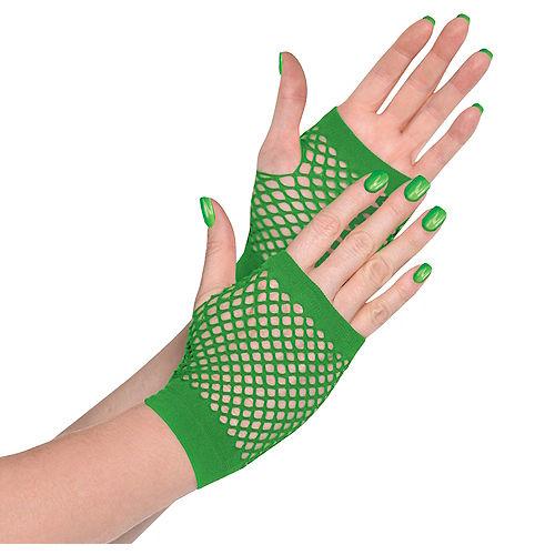 Green Fishnet Glovelettes Image #1