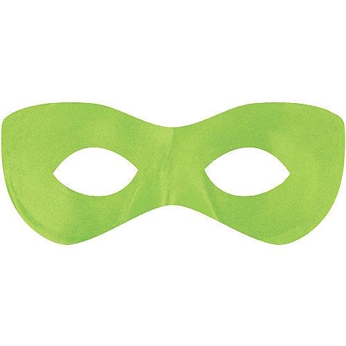 Neon Green Domino Mask Image #1