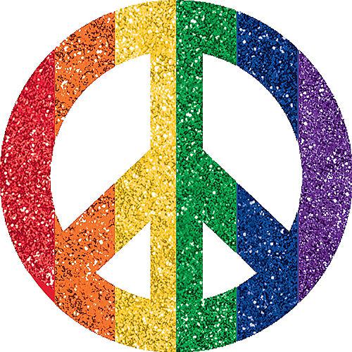 Rainbow Peace Sign Body Jewelry Image #1