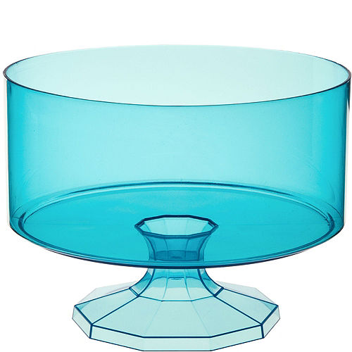 Caribbean Blue Plastic Trifle Container Image #1